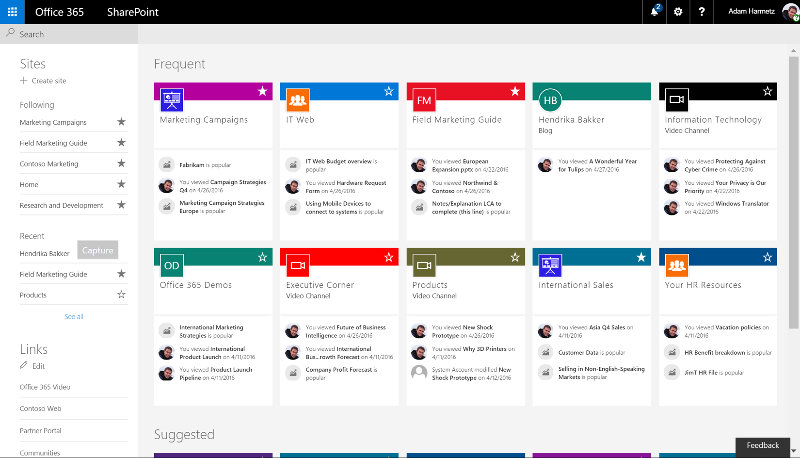 SharePoint-home-page